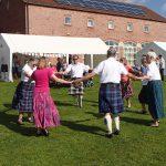 Scottish Dancers enjoying the sun